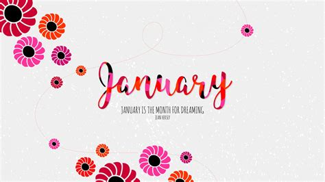 wallpaper january hd typography