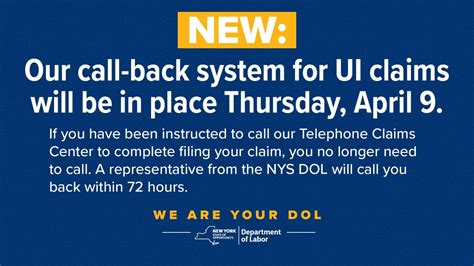 NY launches call back system for unemployment insurance ...