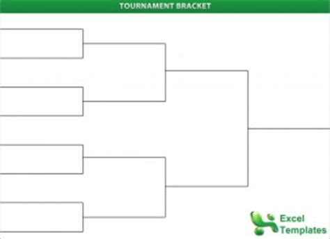 excel bracket template tournament brackets