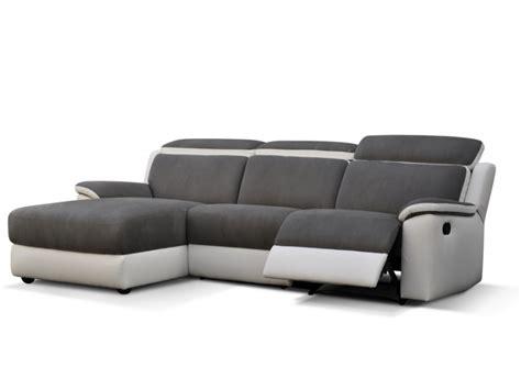 canapé relax angle canapé d 39 angle relax gris et blanc ou noir et blanc souffle