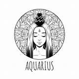 Zodiac Coloring Aquarius Horoscope Symbol Feb Printable Adult Signs February Waterman Calendar Colorare Artwork Meisje Mom Sheets Zodiaco Printables Jan sketch template