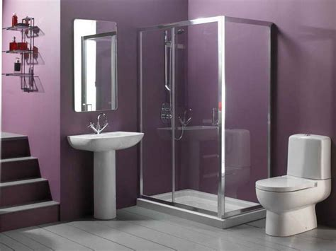 bathroom bathroom purple color schemes with glass