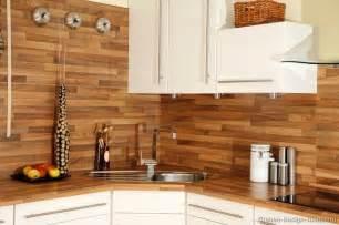wood plank backsplash lodge cabin decor