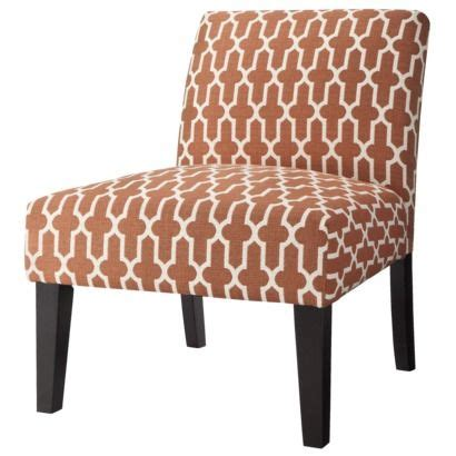 Armless Accent Chairs Target by Avington Upholstered Armless Accent Slipper Chair Orange