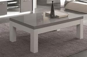 Table Basse Blanc Gris : table basse blanc gris id es de d coration int rieure french decor ~ Nature-et-papiers.com Idées de Décoration