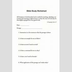 54 Bible Worksheets For You To Complete Kittybabylovecom