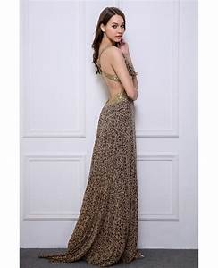 Stylish sheath v neck leopard print wedding guest dresses for V neck dresses for wedding guests