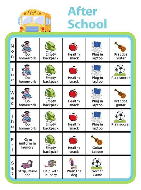 printables age  chores  kids charts