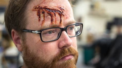 apply  realistic bloody wound  scar makeup youtube
