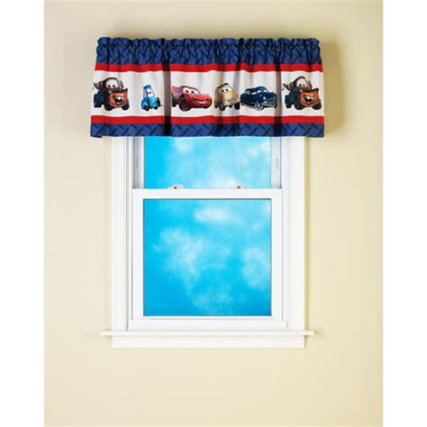 car window curtains walmart disney pixar cars line up pole top valance decor