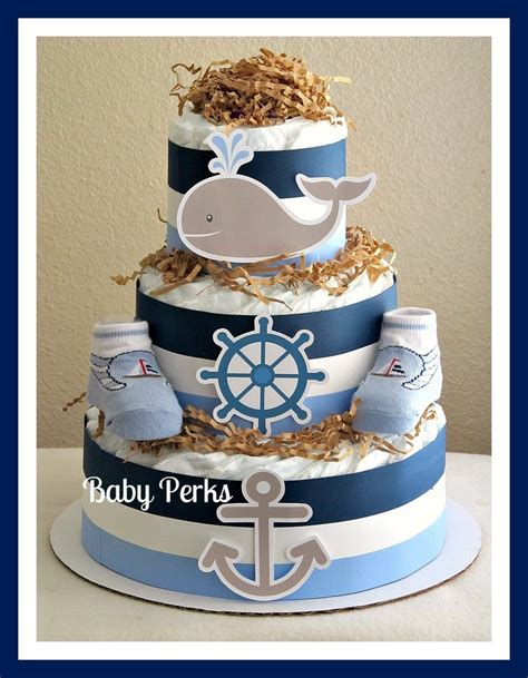 11 Best Nautical Diaper Cakes Images On Pinterest