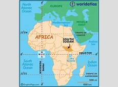 South Sudan Map Geography of South Sudan Map of South