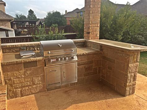 patio bbq pit and custom concrete complete