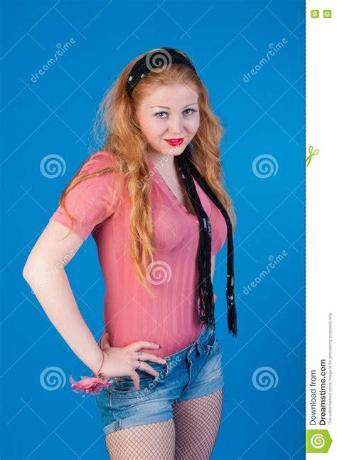 Beautiful Retro Pin Up Girl Royalty Free Stock Images