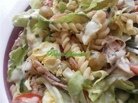 salade de pates poulet salade de p 226 tes et poulet pointe2douceur