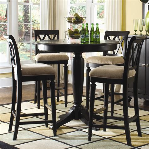 round bar height table 42 quot round bar height table by american drew wolf and