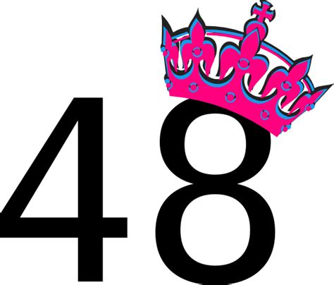 Pink Tilted Tiara And Number 48 Clip Art At Clkercom
