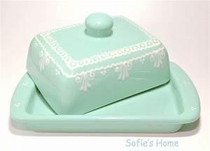 Butterdose Keramik Weiß : butterdosen shabby wei t rkis butterdose handbemalt keramik ein designerst ck von ~ Watch28wear.com Haus und Dekorationen