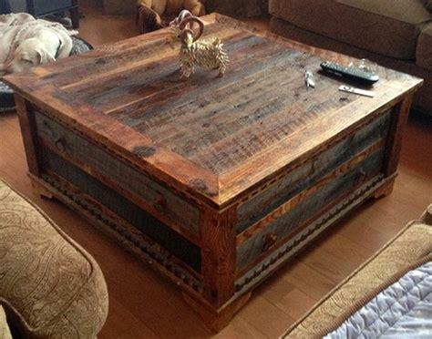 reclaimed wood trunk coffee table coffee table wood