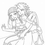 Anime Coloring Kissing Couple Zelda Zellie Couples Colouring Manga Hugging Printable Getdrawings Getcolorings Deviantart Templates Template sketch template