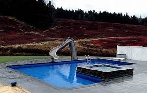 L Shaped Pool with Spillover Spa - Modern - Pool - other