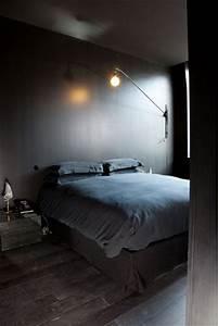 Chambre Bleu Nuit : couleur chambre noir gris anthracite bleu nuit ~ Melissatoandfro.com Idées de Décoration