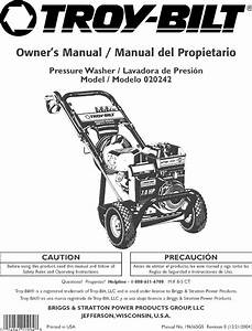 Troybilt 020242 User Manual Pressure Washer Manuals And