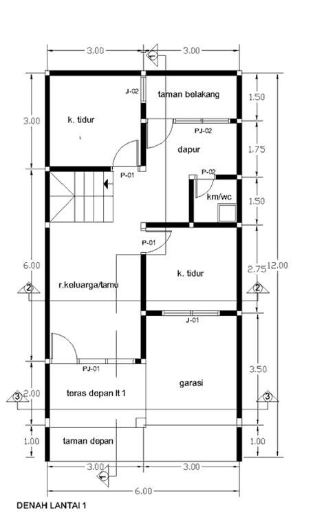 contoh gambar  rumah  lantai desain rumah sederhana
