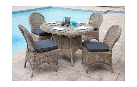 table jardin chaises emejing table de jardin ronde rotin pictures awesome