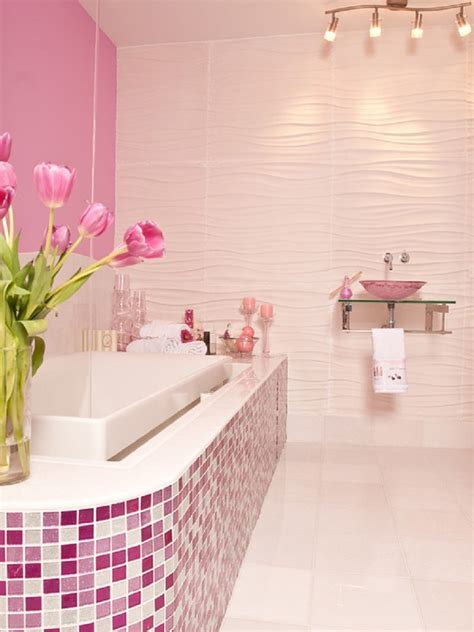 pink  girly bathroom ideas  friends  frosting