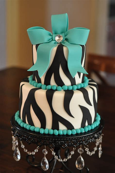 turquoise zebra party cake april flickr