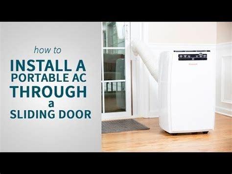 install  portable air conditioner   sliding door sylvane portable air