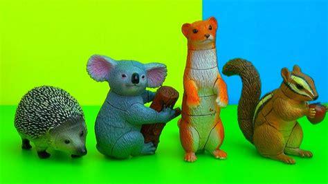 animals 3d cute puzzle toy koala surprise hedgehog weasel chipmunk