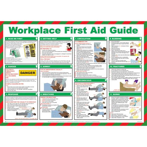 workplace  aid guide poster laminated   yesss