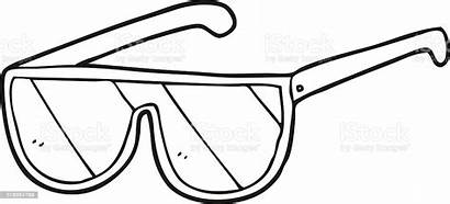Sunglasses Cartoon Clip Coloring Outline Template Vector