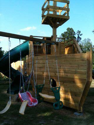 Pirate Ship Backyard Playset by Wooden Pirate Ship Playhouse Money Saving Ideas Play