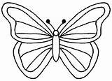 Clipart Butterfly Coloring Clip Clker Hi sketch template