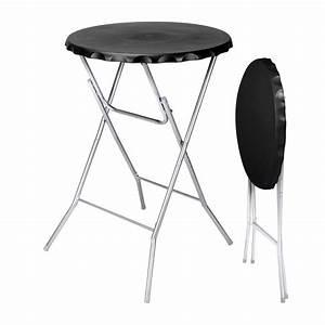 Table Haute Pliable : table haute pliante zahia noir meuble d 39 appoint eminza ~ Teatrodelosmanantiales.com Idées de Décoration