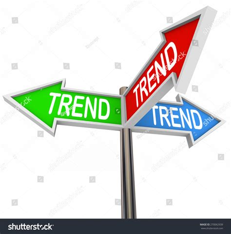 Trend Word On Three Arrow Signs Pointing You In The