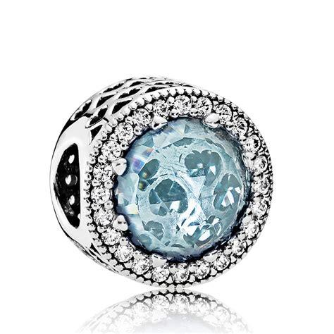 Pandora Radiant Hearts Blue Crystals & CZ Charm ...