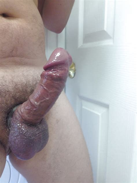 Cock Ring Oiled With A Little Cum Big Mushroom Head Dick 6 Pics