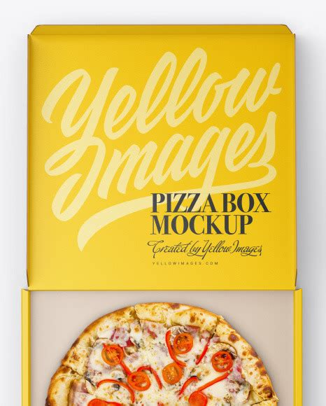 Home our free mockup free paint bucket mockup psd template. Opened Matte Pizza Box Mockup in Box Mockups on Yellow ...