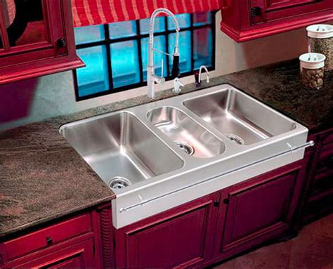 three basin kitchen sink large capacity sink farmhouse apron sinks by just 6104