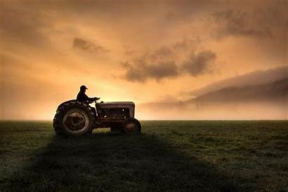Tractor Farmer Farm Tractors Riding Country Subsidies