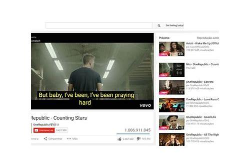 exibir letras para baixar video do youtube