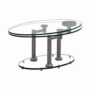 58 off art deco movable oval glass metal coffee table With movable coffee table