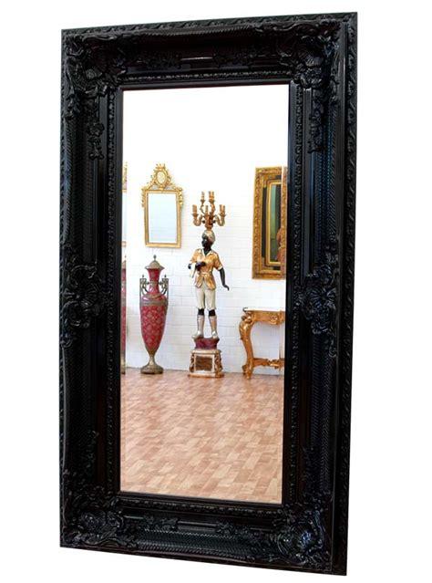 grand miroir baroque noir 160x88cm cadre en bois rococo rocailles louis xv xvi ebay