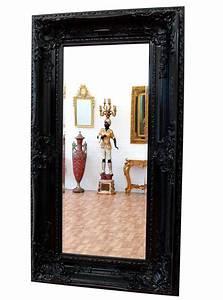 Miroir Baroque Noir : grand miroir baroque noir 160x88cm cadre en bois rococo rocailles louis xv xvi ebay ~ Teatrodelosmanantiales.com Idées de Décoration