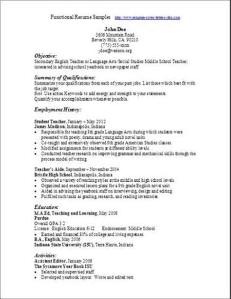 best resume for seekers sle functional resume best templates gallery resume builder