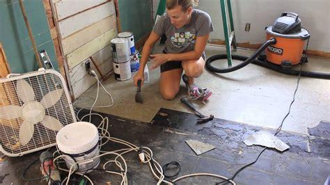 removed  asbestos floor tiles youtube